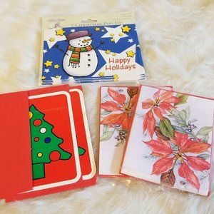 Vtg Christmas Cards PopUp Floral & Tree 2001 New
